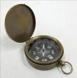 Antique Finish Brass Pocket Compass