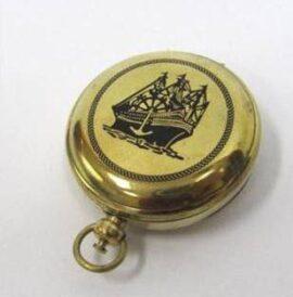 Brass Ship Pocket Compass