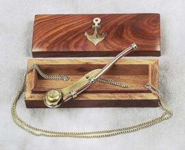 Boatswain Whistle with Case