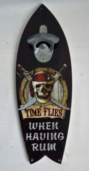 Pirate Surfboard with Bottle Opener