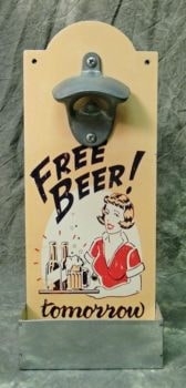 Free Beer Bottle Opener with Cap Catcher