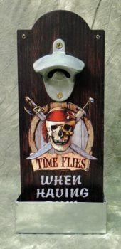Pirate Bottle Opener with Catcher