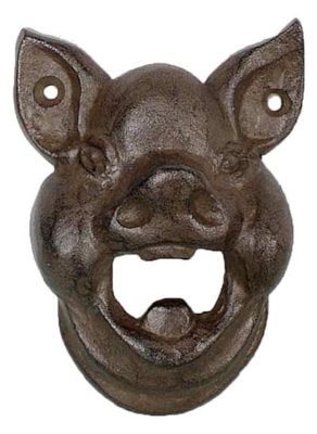 Hungry Pig Wall Mount Bottle Opener
