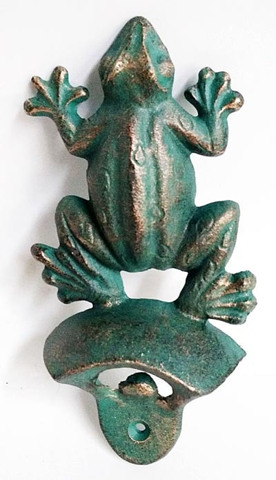 Frog Wall Bottle Opener Globe Imports