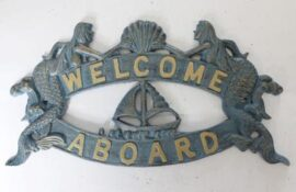 Mermaid Welcome Aboard Plaque