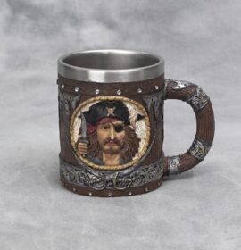 Pirate and Ship Tankard