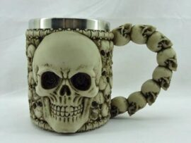 Skull Faced Drinking Mug