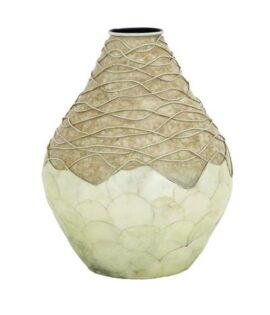 Capiz Shell Vanilla Vase
