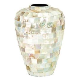 Mosaic Mother-of-Pearl Vase
