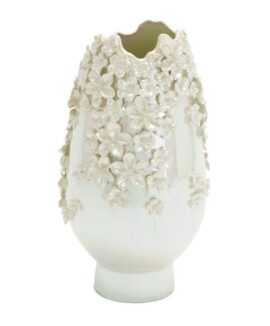 Ceramic Vase with Moriage Flowers