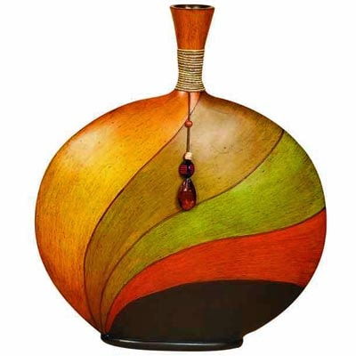 Flat Tribal Style Vase