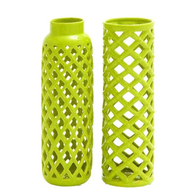 Assorted Decorative Lime Green Vase