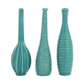Assorted Turquoise Ceramic Vase