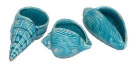Set of 3 Turquoise Sea Shells