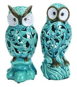 Assorted Turquoise Owl Figurine