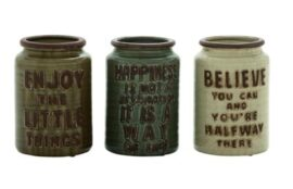 Assorted Inspirational Cutlery Jars