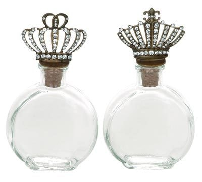Assorted Crown Jewel Glass Perfume Bottle