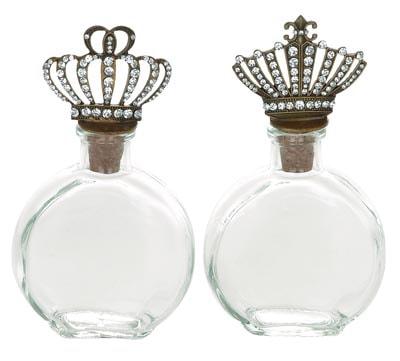 Assorted Crown Jewel Glass PERFUME Bottle