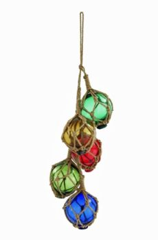 Five Glass Floats on Rope