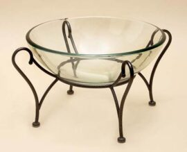 Glass and Metal Bowl