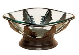 Glass and Metal Bowl