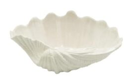 White Clam Shell Bowl