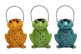 Assorted Ceramic Frog Lantern