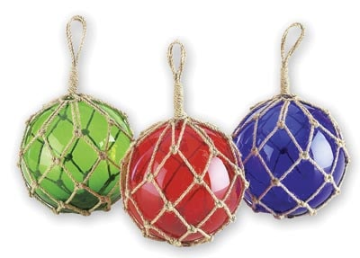 Assorted Glass Float in Rope