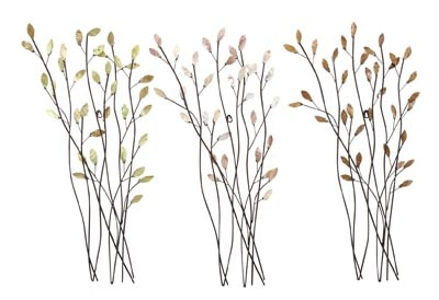 Metal Leaf Wall Decor assorted branches wall decor - globe imports