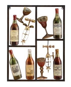 Wine Art Boxed Wall Decoration