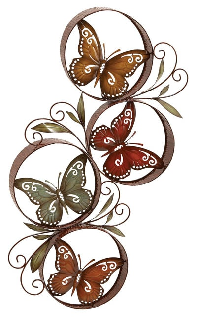 Butterfly Circles Wall Decor