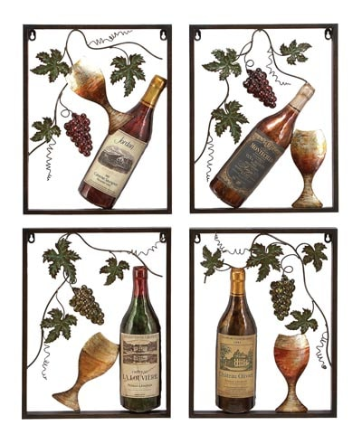 Assorted Wine Wall Decor Plaques