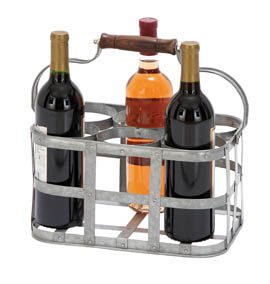 Metal Wine Bottle Tote
