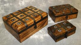 Set of 3 Wood Boxes
