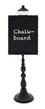 Ornate Chalkboard Sign on Stand