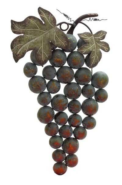Grape Cluster Wall Decoration Globe Imports