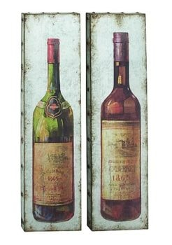 Assorted Metal Wine Wall Plaque