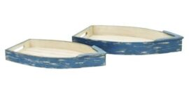 Set of Two Boat Trays
