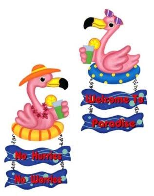 Assorted Metal Wall Flamingo