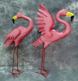 Set of 2 Flamingo Figurines