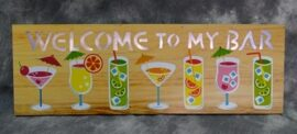 LED Welcome to My Bar Sign