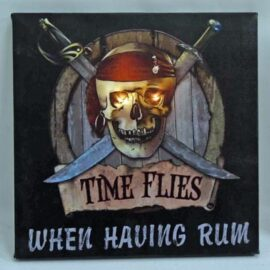 LED Canvas Pirate Time Flies