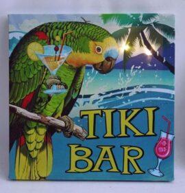 LED Canvas Parrot Tiki Bar