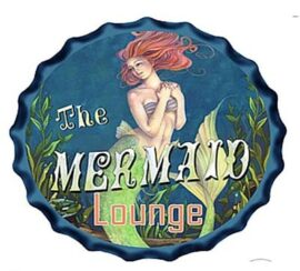 Mermaid Lounge Metal Bottle Cap
