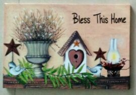 Bless this House LED Canvas Print