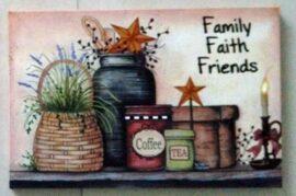 Family Faith Friends LED Canvas Print
