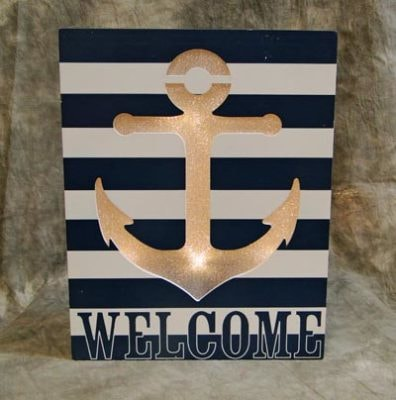 LED Welcome Anchor Sign