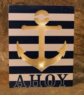 LED Ahoy Anchor Sign