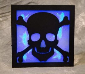 LED Skull and Cross Bones Wall Art