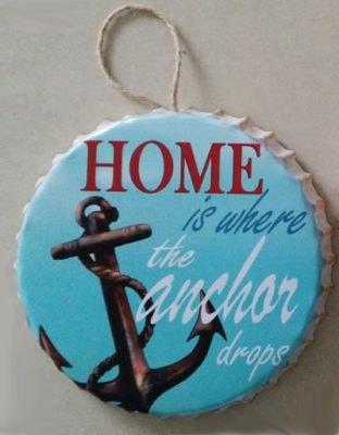 Anchor Drops Is Home Metal Bottle Cap